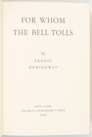 For Whom The Bell Tolls.