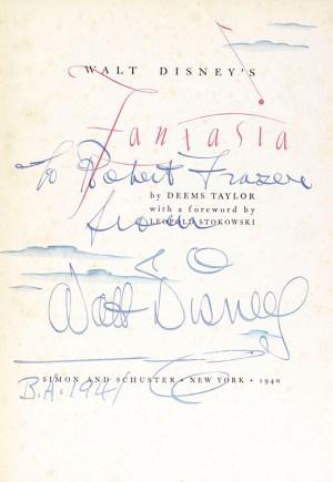 Walt Disney's Fantasia. With a Foreword by Leopold Stokowski.