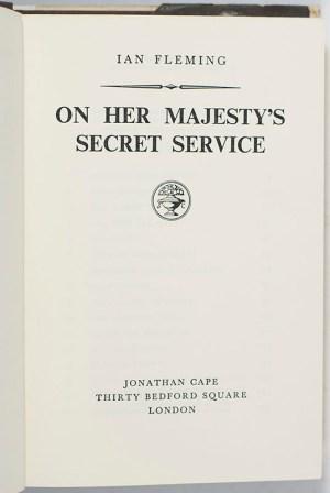 On Her Majesty's Secret Service.