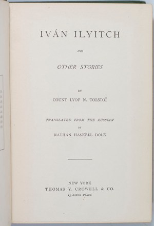 Ivan Ilyitch and Other Stories.