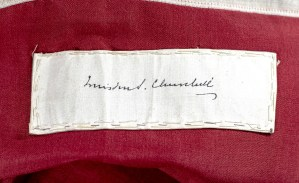 Winston S. Churchill Signed WWII British Army XXX Corps Headquarters Flag.