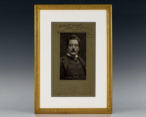 Giacomo Puccini Signed Photograph.