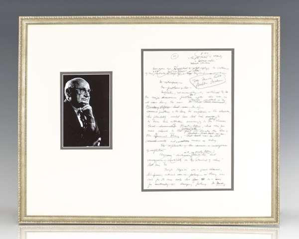 Milton Friedman Manuscript on J.M. Keynes' The General Theory.