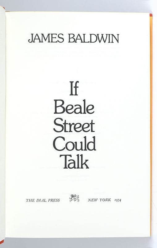 If Beale Street Could Talk.