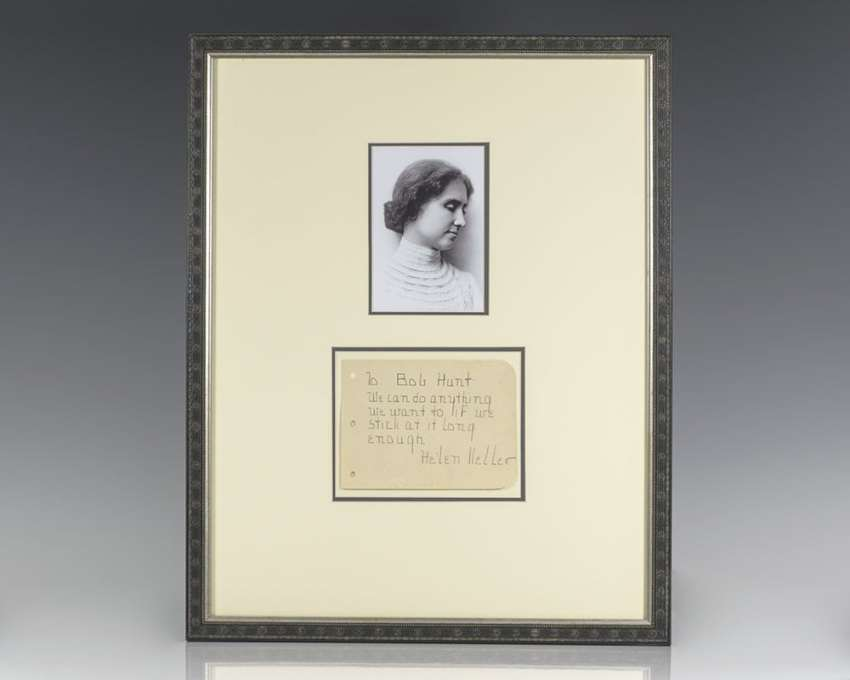 Helen Keller Autograph Note Signed.