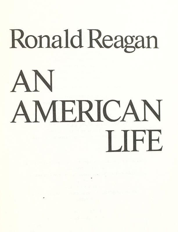 An American Life.