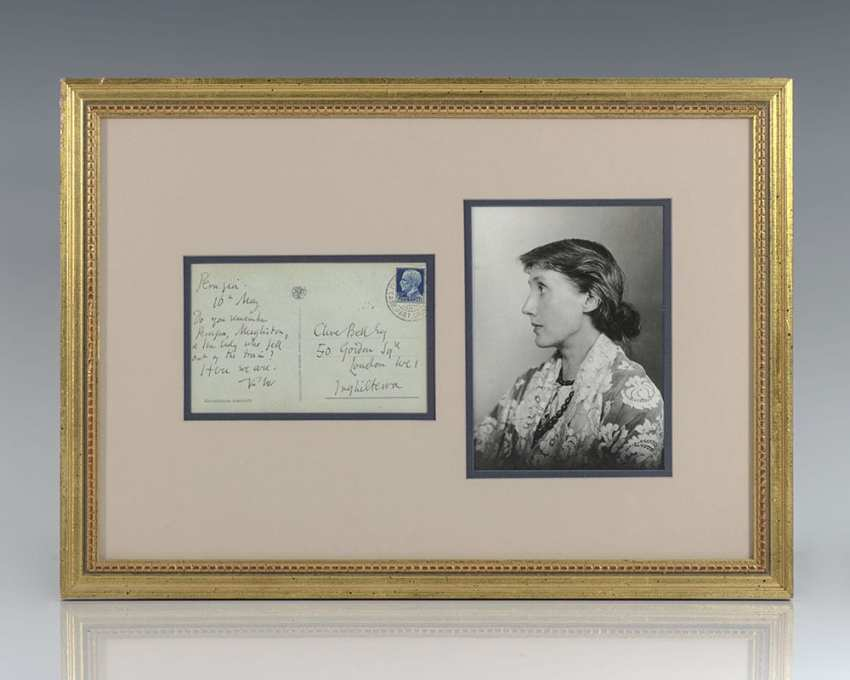 Virginia Woolf Autograph Letter Signed to Clive Bell.