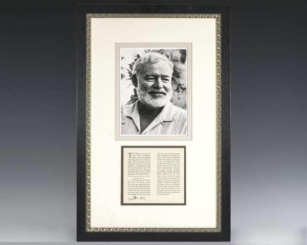Ernest Hemingway Autograph Letter Excerpt Signed.
