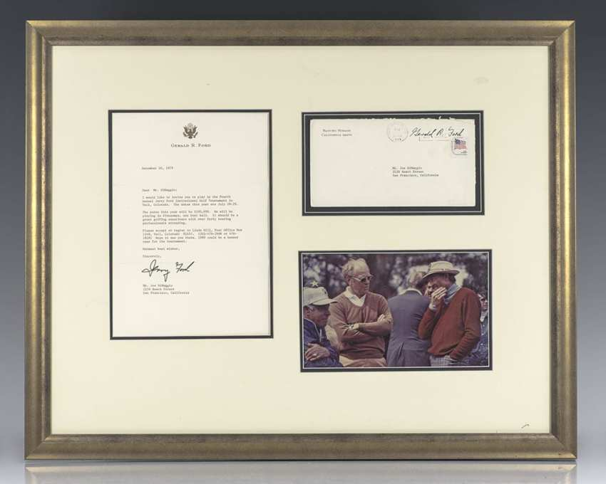 Gerald Ford Autograph Letter Signed to Joe DiMaggio.