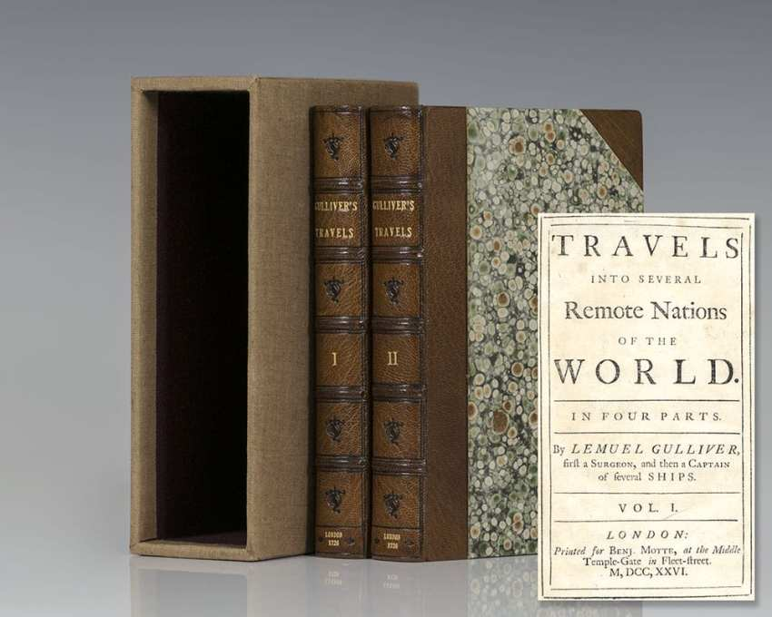 Travels into Several Remote Nations of the World. In Four Parts. By Lemuel Gulliver, first Surgeon, and then Captain of several Ships (Gulliver's Travels).