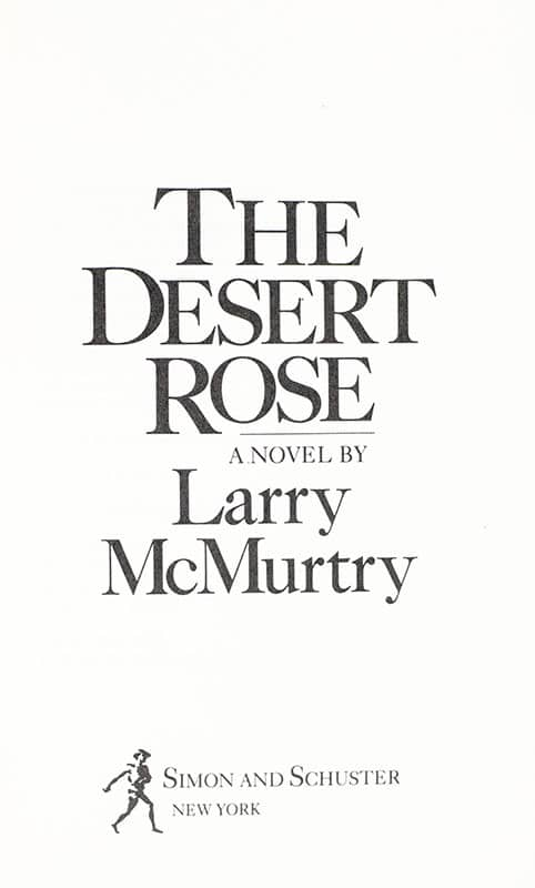 The Desert Rose.