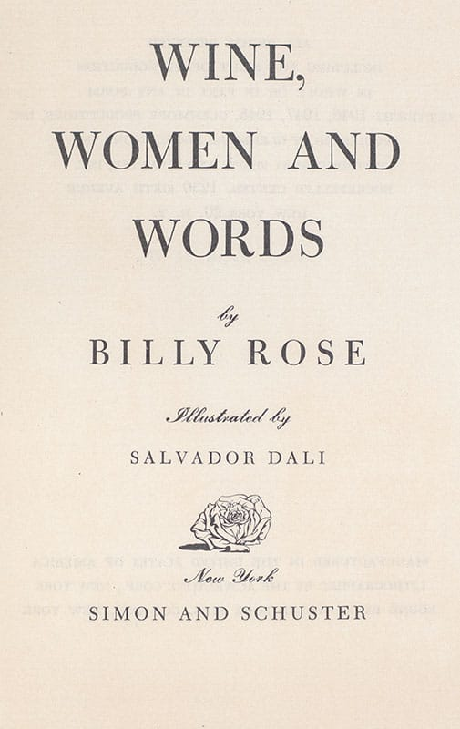 Wine, Women and Words.