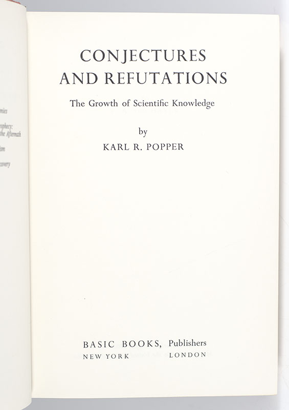 Conjectures and Refutations: The Growth of Scientific Knowledge.
