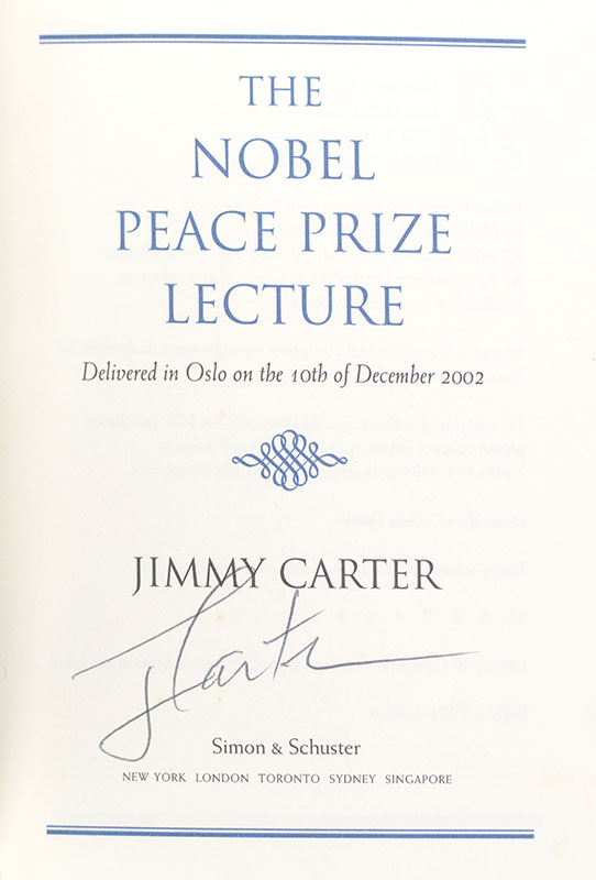 The Nobel Peace Prize Lecture.