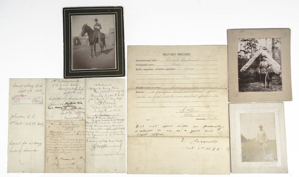 Theodore Roosevelt Rough Riders Era Document Collection.