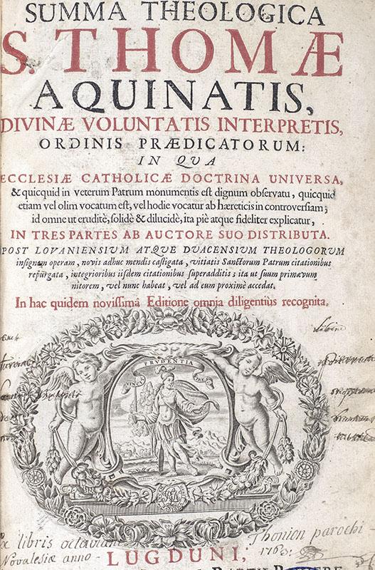 Summa Theologica S. Thomae Aquinatis.