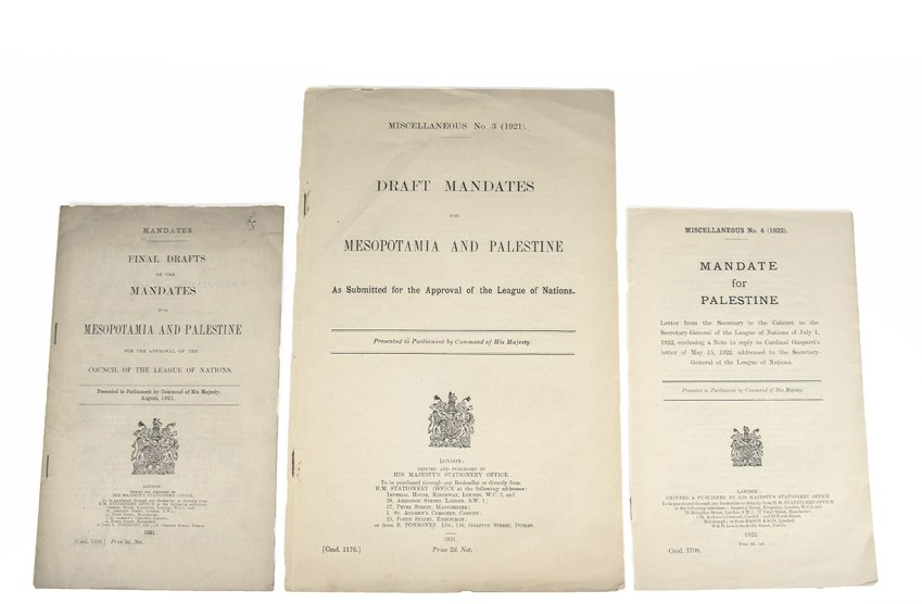 Final Drafts of the Mandates For Mesopotamia and Palestine: For the Approval of the Council of the League of Nations.