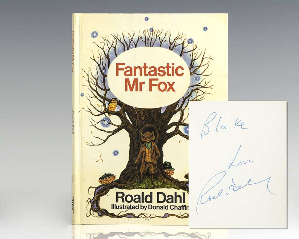 Fantastic Mr Fox Roald Dahl First Edition Signed