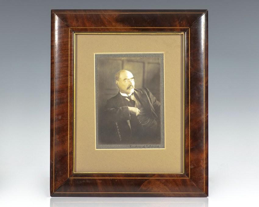 Rudyard Kipling Signed Photograph.