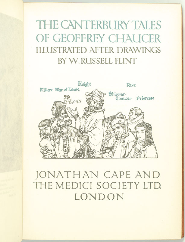 The Canterbury Tales of Geoffrey Chaucer.