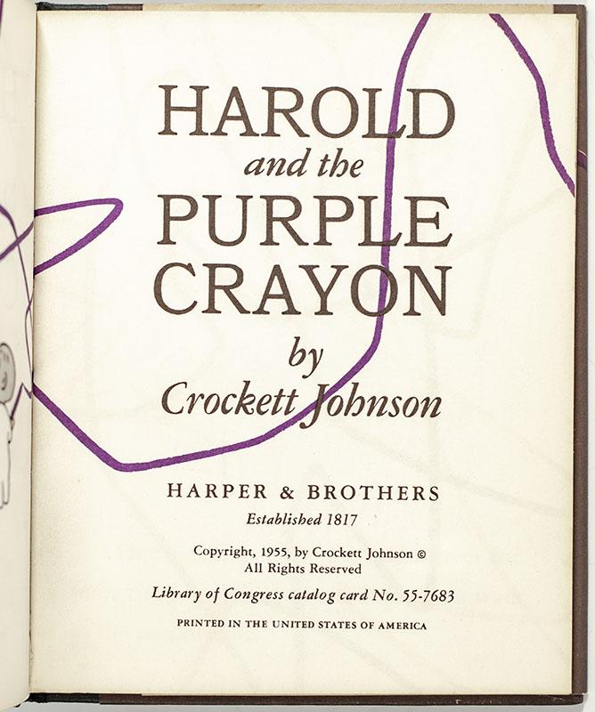 Harold and the Purple Crayon.