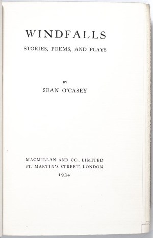 Windfalls: Stories, Poems, and Plays.