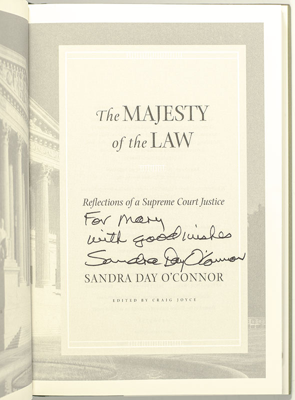 The Majesty of the Law Reflections of a Supreme Court Justice