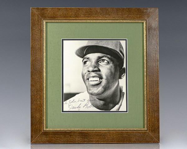 Jackie Robinson Signed Photograph.