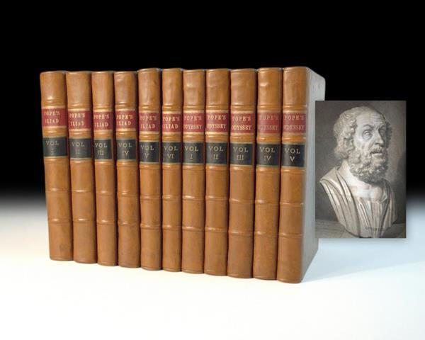First Edition of Pope's Translation of The Iliad and Odyssey, Rare Book