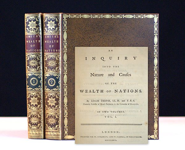 First Edition of Adam Smith's Wealth of Nations, Rare Book
