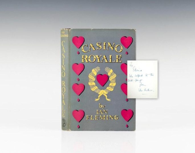 First Edition of Casino Royale by Ian Fleming, Inscribed