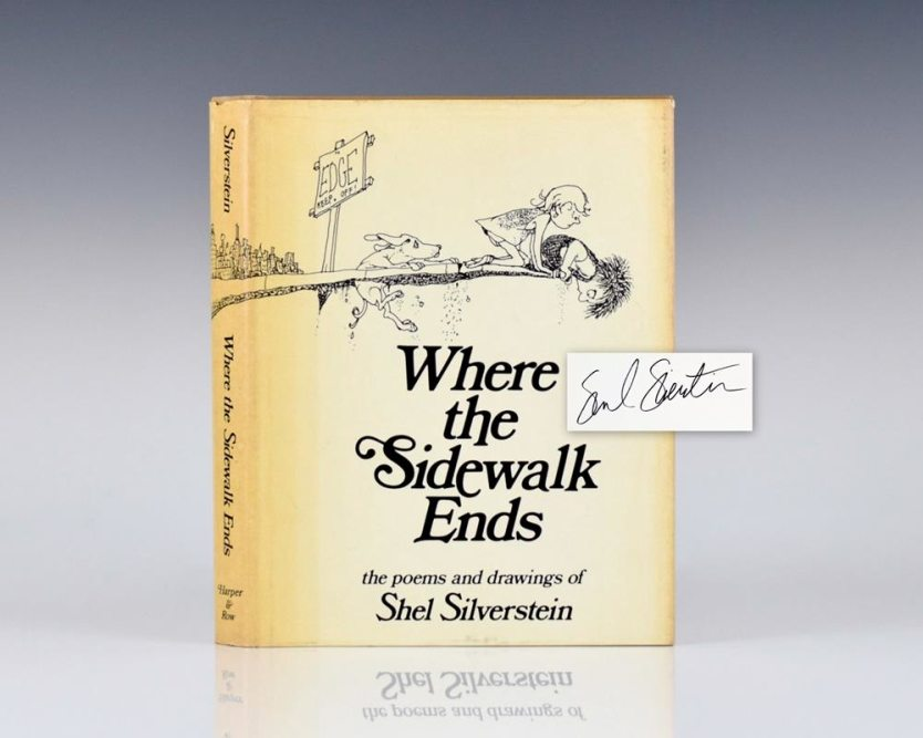 where-the-sidewalk-ends-poems-and-drawings-shel-silverstein-first-edition-signed-1974