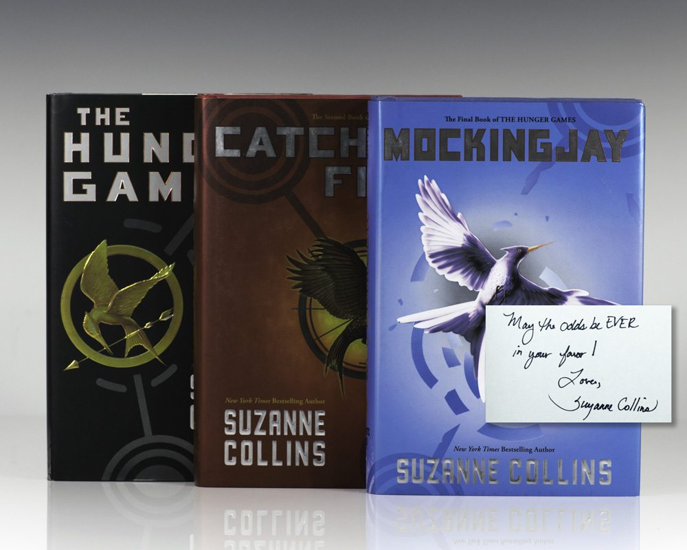 First Edition of each book in The Hunger Games Trilogy