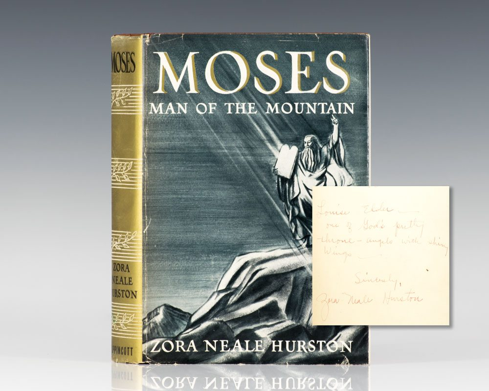 First Edition of Moses, Man on the Mountain; Inscribed by Zora Neale Hurston