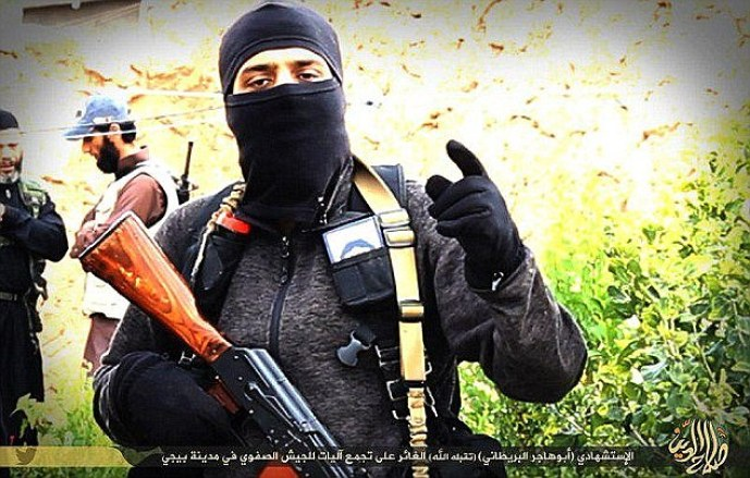 Blew himself up: At least three British jidhadists are known to have taken part in ISIS suicide missions. Abu Hajar al-Britani carried out the attack in the strategic Iraqi town of Baiji last November