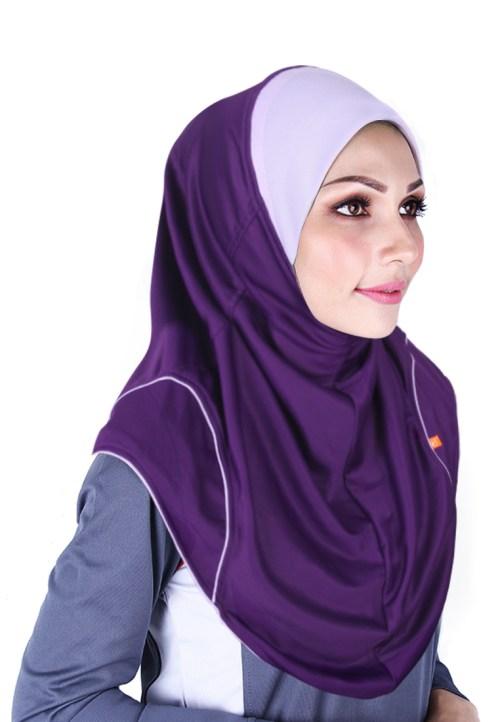 Raqtive Sport Hijab purple lilac b209