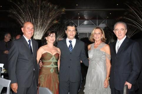 Os sogros de Raquel Soares, Márcio Castelo Branco, Conceição e Rinaldo Campos Soares