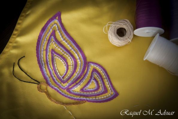 encaje cinta color aurora ramos raquel adsuar mariposa