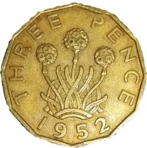 Three Pence 1952.