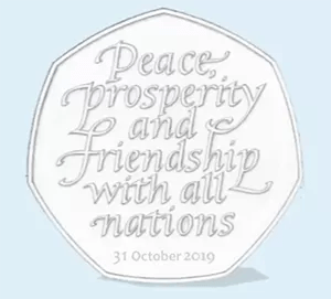 Brexit 2019 50p coin