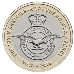 Royal Air Force anniversary two pound