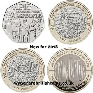New 2018 UK coin designs