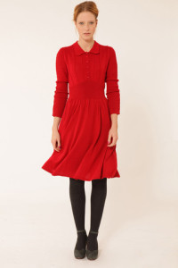 Lowie Red Knitted Tea Dress