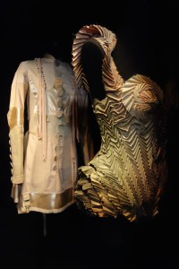 Frock coat from S/S'94 (ready-to-wear) and pleated taffeta bodysuit from S/S'10 (Couture)