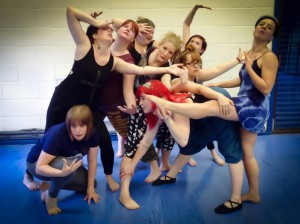 Dancers at an Irreverent Dance contemporary class