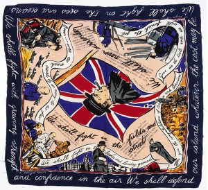 Silk scarf celebrating PM Winston Churchill, from the IWM collections