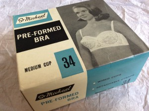 A 'St Michael' bra, by Marks and Spencer. Donated by Lorraine Smith to the LCF Archives.