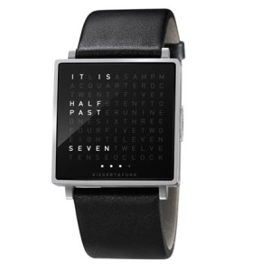 Qlock2 Watch in steel