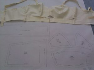 Lori's attempt at making a pattern for a made-to-measure unwired bra