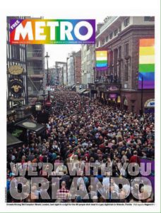 Cover of the UK Metro newspaper, 14th June 2016